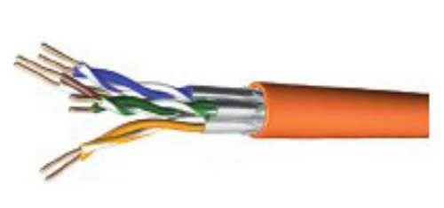 Tecline Verlegekabel, Cat.7, S/FTP, PiMF, orange, 250 m Box