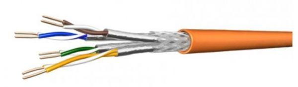 Draka Verlegekabel UC900 SS23, Cat.7, S/FTP, PiMF, orange, 500 m Einwegtrommel