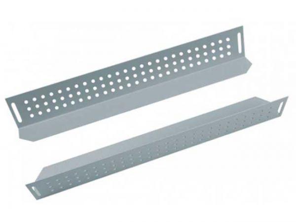 Winkelgleitschienen / Geräteträger - 2 St. - Länge 380 mm - lichtgrau