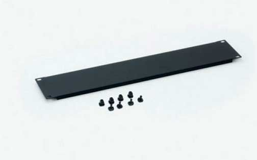 """19"""" Blindplatte, steckbar, 2 HE, Stahlblech, schwarz RAL 9005"""