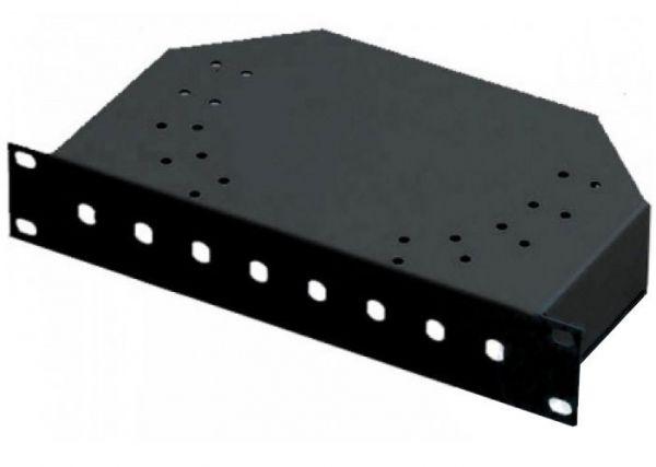 10'' LWL Spleißbox, unbestückt, 8-fach ST Frontblende, schwarz RAL 9005