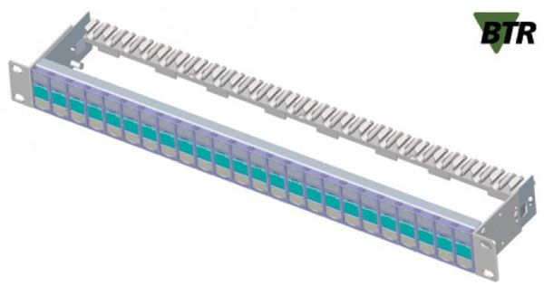 Modulträger für 24 E-DAT modul Anschlussbuchsen, Leergehäuse