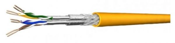 Draka Verlegekabel UC MULTIMEDIA 1500 SS22, Cat.7 (8), 6FOILS S/FTP, PiMF, gelb, 100 m Ring