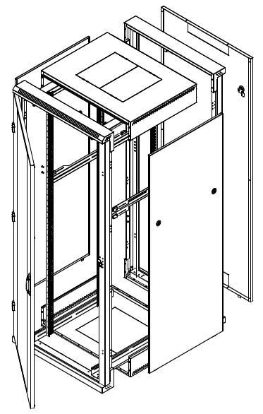 Triton RZA - verschraubter und zerlegbarer Serverschrank