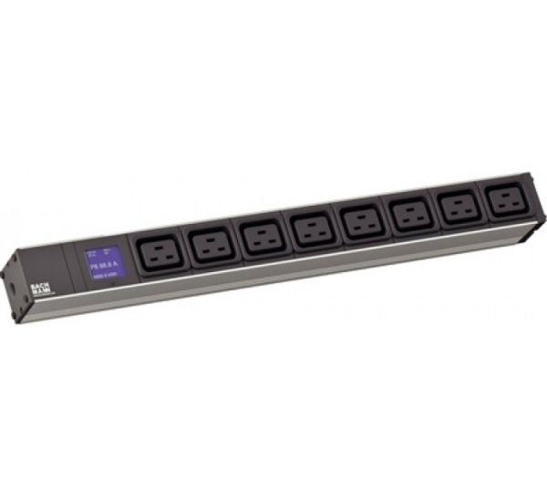 """Bachmann 19"""" PDU BlueNet BN500, Steckdosenleiste mit integrierter Leistungsmessung, 8 x IEC320 C19 B"""