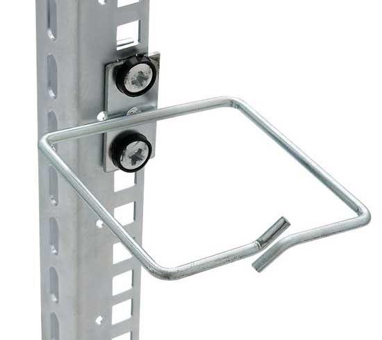 Kabelrangierbügel mittig, Kabelführung senkrecht, Kabeleinführung vorn, BxT 80 x 80 mm