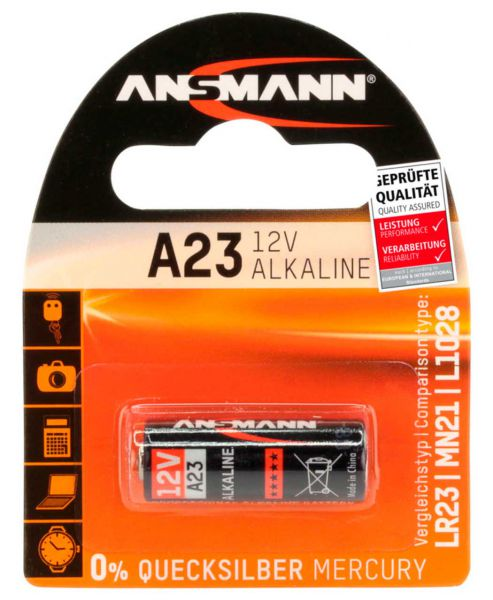 Ansmann Alkaline Batterie A23 / LR23 12V