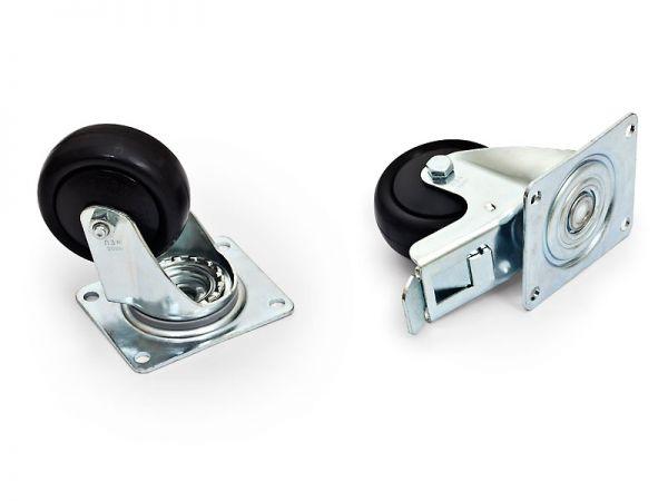 Triton Lenkrollen für Datenschränke, 1 Satz - belastbar bis zu 800 kg