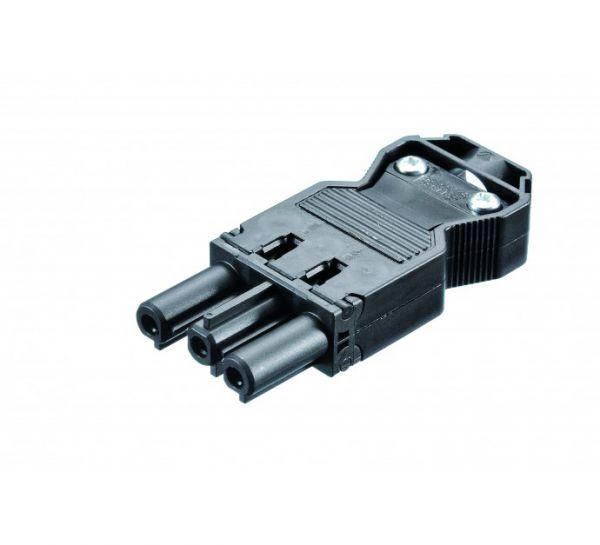 Bachmann Gerätestecker mit Schraubanschluss, GST18i3, schwarz