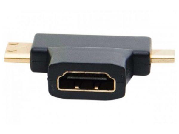 HDMI adapter T-förmig Mini/micro HDMI Stecker zu HDMI Buchse