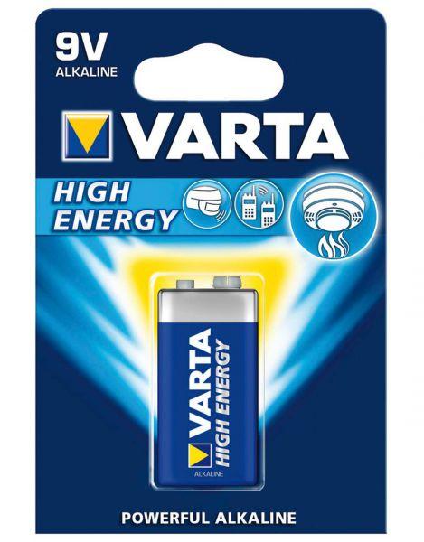 VARTA Batterie Alkaline, E-Block, 6LR61, 9V Longlife Power