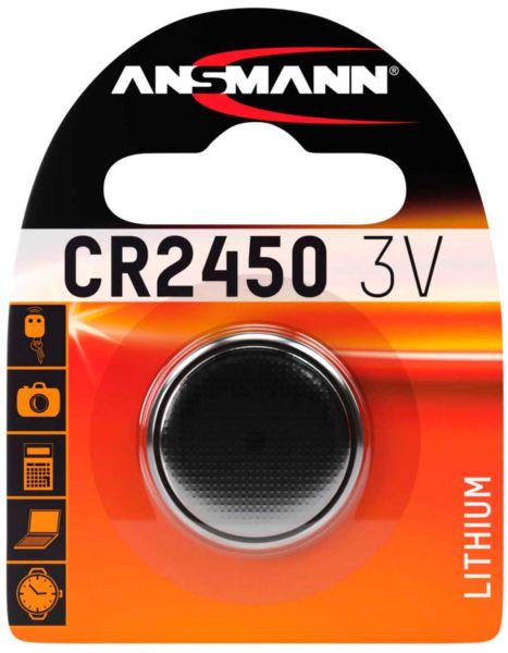 Ansmann Lithium Knopfzelle CR2450 3V