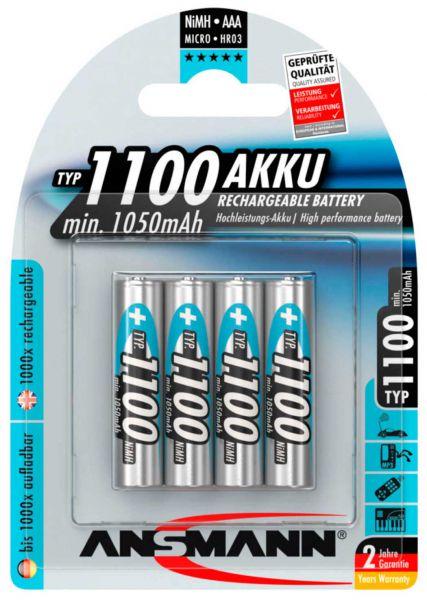 Ansmann NiMH-Akku Micro (AAA) 1100mAh 4St.