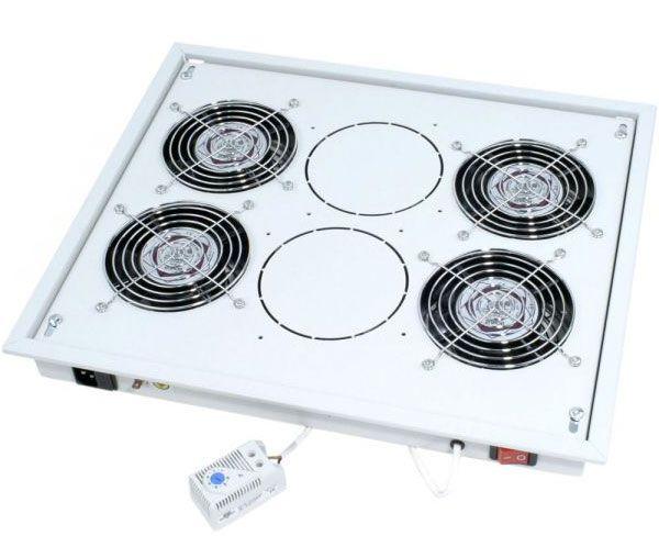 Triton Ventilationseinheit für Dach- und Bodeneinbau, 4 x Lüfter, hellgrau RAL 7035