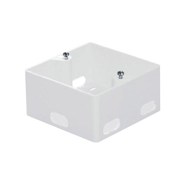 Aufputzgehäuse für Unterputz Datendosen, Ausbrüche zur Kabeleinführung, reinweiß RAL 9010