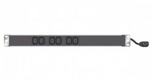 """19"""" Steckdosenleiste 6-fach IEC C13, schwarz"""