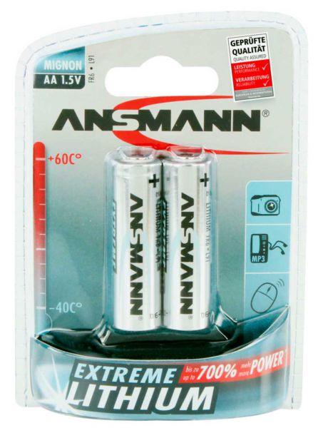 Ansmann Extreme Lithium Batterie Mignon AA / FR6 1.5 V 2 St.