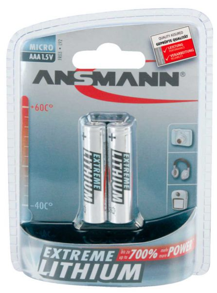 Ansmann Extreme Lithium Batterie Micro AAA / FR03 1.5 V 2 St.