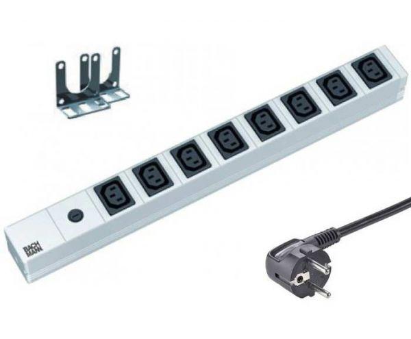 """19"""" Steckdosenleiste 8x IEC320 C13 Feinsicherung 10A"""