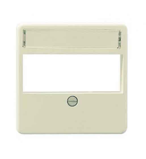 Rutenbeck Zentralplatte für Datendosen 3-fach perlweiß