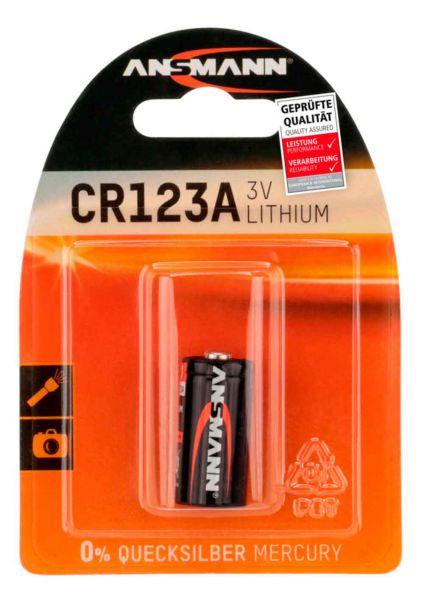 Ansmann CR123A Fotobatterie Lithium 3V 1St
