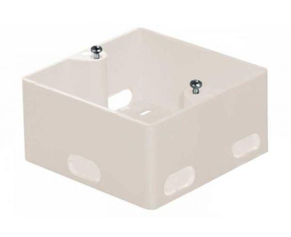 Aufputzgehäuse für Unterputz Datendosen, perlweiß - seitliche Kabeleinführung