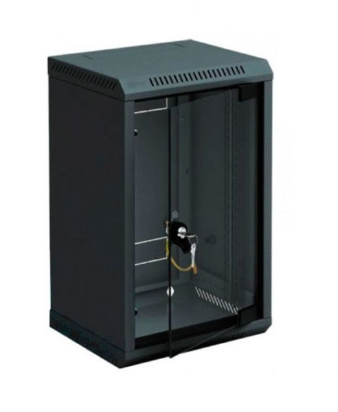 10''-Wandverteiler RBA, 9 HE, BxT 310 x 260 mm, schwarz