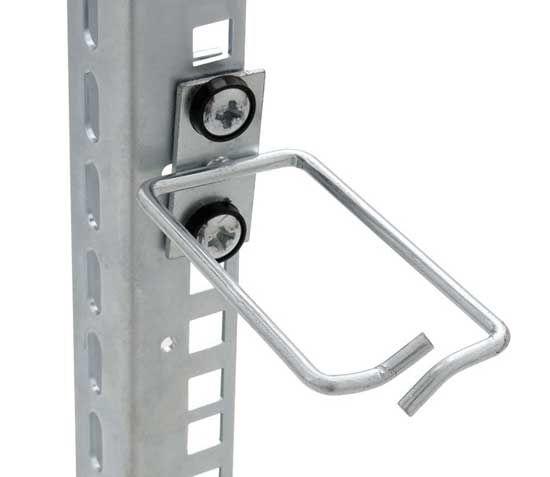 Kabelrangierbügel mittig, Kabelführung senkrecht, Kabeleinführung vorn, BxT 40 x 80 mm