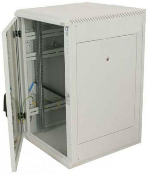 19 Zoll Netzwerkschrank RMA Triton - 18 HE - BxT 600 x 600 mm - lichtgrau - RückWAND