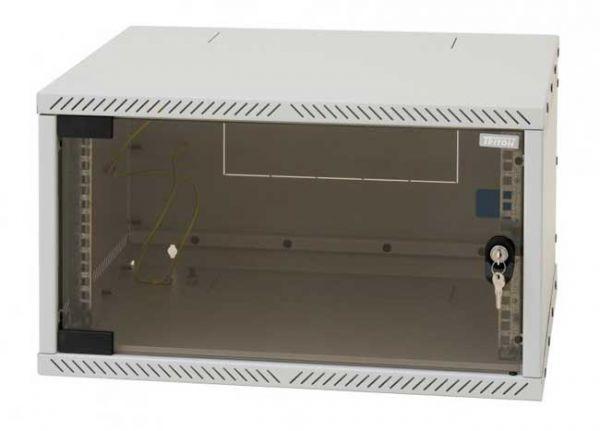 "19"" Wandgehäuse, RXA, 12 HE, BxT 550 x 400 mm, lichtgrau RAL 7035 - FlatPack"