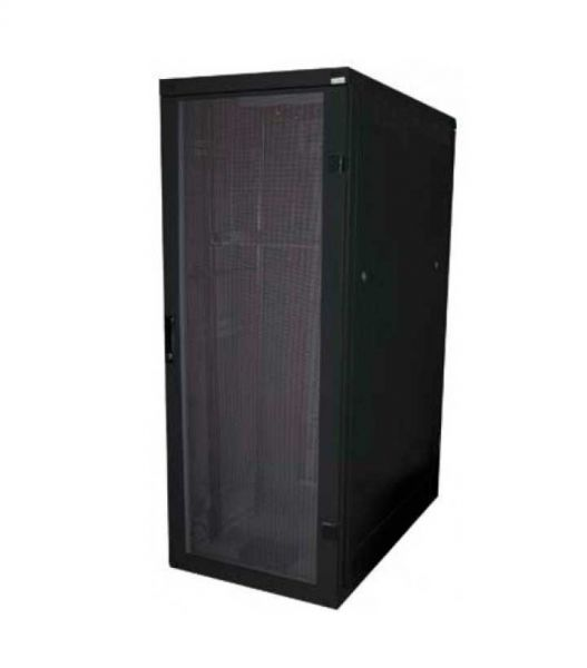 19 Zoll Serverschrank RZA 42 HE BxT 800 x 1000 mm perforierte Türen schwarz