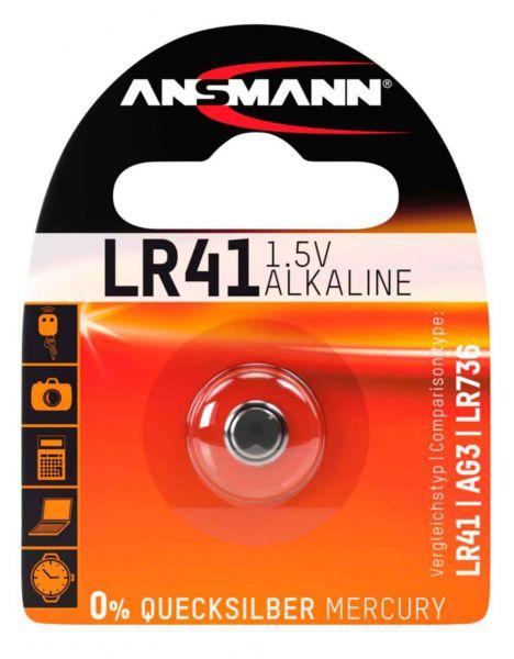 Ansmann Knopfzelle, LR41, 1,5 V Alkaline