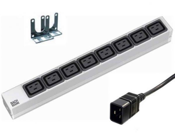 """19"""" Steckdosenleiste 8x IEC320 C19 und C20 Stecker"""