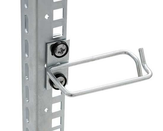 Kabelrangierbügel versetzt, Kabelführung seitlich, BxT 80 x 80 mm