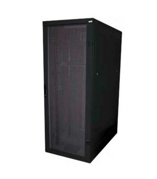 19 Zoll Serverschrank RZA 42 HE BxT 600 x 1000 mm perforierte Türen schwarz