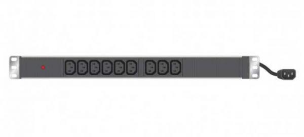 """19"""" Steckdosenleiste 9-fach IEC C13, schwarz"""