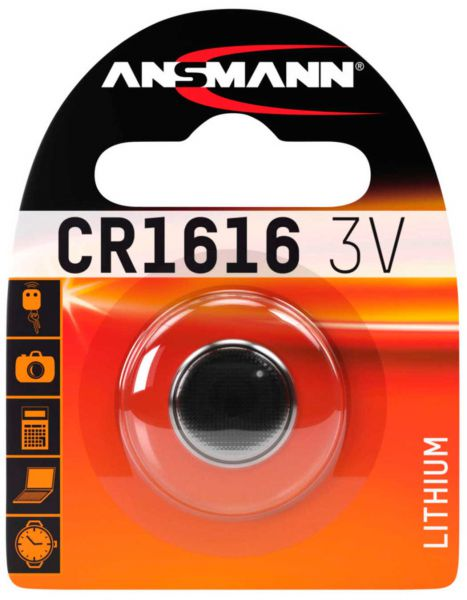 Ansmann Lithium Knopfzelle CR 1616 3V