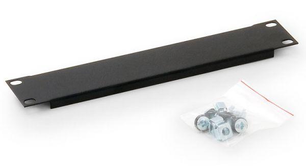 """10""""-Blindplatte 1HE, schwarz RAL 9005, Metall"""
