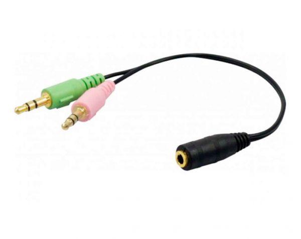 Audio Adapter für Headsets mit 3,5 mm Klinkenstecker
