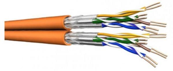 Draka Duplex-Verlegekabel UC900 HS23, Cat.7, S/FTP, PiMF, orange, 100 m Einwegtrommel
