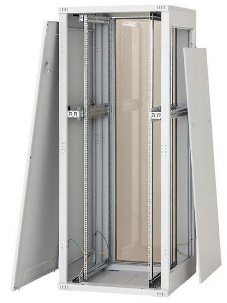 19 Zoll Netzwerkschrank RZA 45 HE BxT 600 x 900 mm lichtgrau