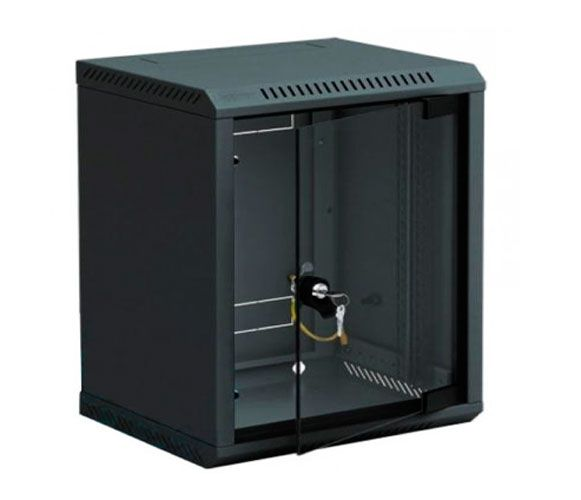 10''-Wandverteiler RBA, 4 HE, BxT 310 x 260 mm, schwarz