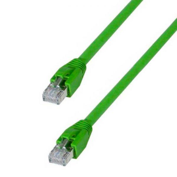 Industrie Patchkabel CAT.6A S/FTP doppelt geschirmt grün