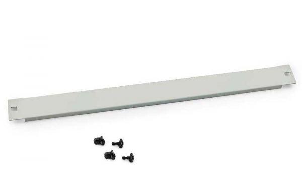 """19"""" Blindplatte, steckbar, 1 HE, Stahlblech, hellgrau RAL 7035"""