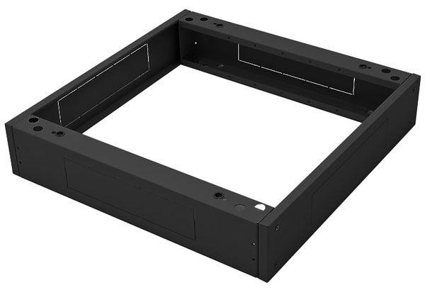 Sockel für Triton Netzwerkschränke 800 x 800 mm, schwarz RAL 9005