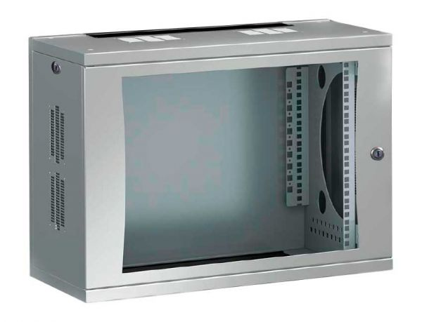 "Rittal 19"" Wandgehäuse FlatBox 9 HE 600 mm Tiefe - 7507.110"
