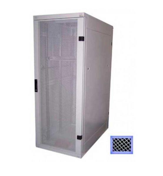 19 Zoll Serverschrank RZA 22 HE BxT 600 x 1000 mm perforierte Türen lichtgrau