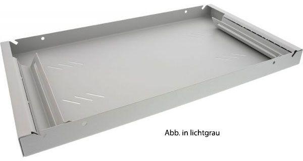 19'' Fachboden, 1HE, schwarz, 250mm Tiefe, Festeinbau, 15 kg Tragkraft