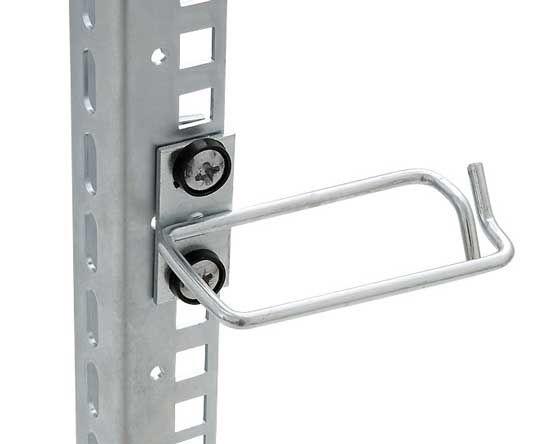 Kabelrangierbügel versetzt, Kabelführung seitlich, BxT 40 x 80 mm