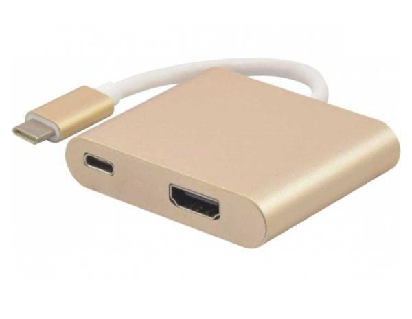 USB 3.1 Type-C (TM) an HDMI Adapter/Konverter und Stromversorgung